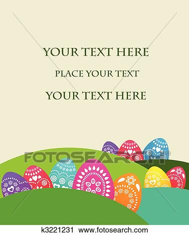 Clipart of Easter card template - 2 k3221231 - Search Clip Art