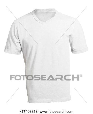 Pictures of Men\u0027s Blank White V-Neck Shirt Template k17403318