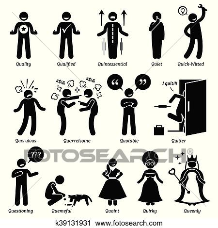 Clipart of Human Character Traits k39131931 - Search Clip Art