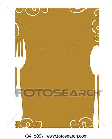 Clip Art of blank menu page template k3415897 - Search Clipart