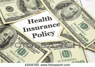Stock Photo of Health Insurance Policy costs cash k3444783 - Search Stock Images, Poster ...