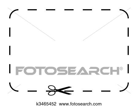 Clip Art of Blank coupon or voucher k3465452 - Search Clipart - blank voucher