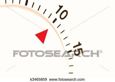 Stock Photograph of ten minutes left to go on a timer k3465859