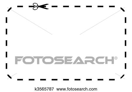 Stock Illustration of Blank coupon or voucher k3565787 - Search EPS