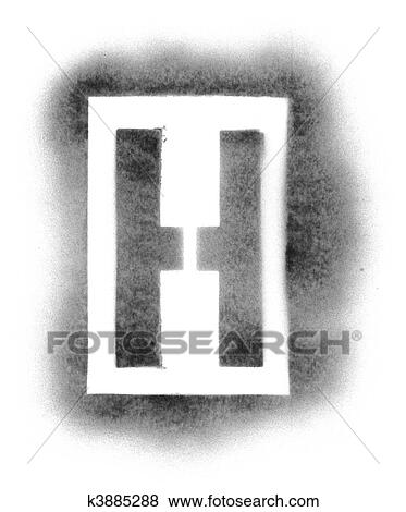Pictures of Stencil letters in spray paint k3885288 - Search Stock