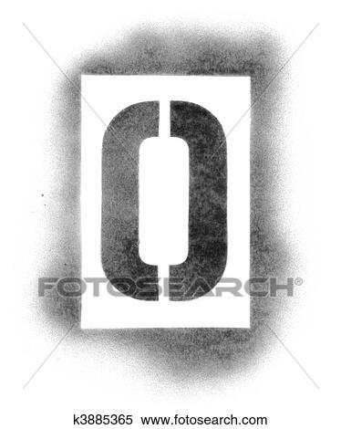 Stock Image of Stencil letters in spray paint k3885365 - Search