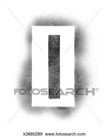 Stock Photograph of Stencil letters in spray paint k3885289 - Search