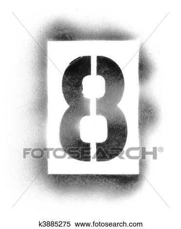 Stock Image of Stencil numbers in spray paint k3885275 - Search