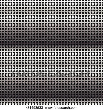 Clipart of Abstract perforated, carbon fiber background, pattern