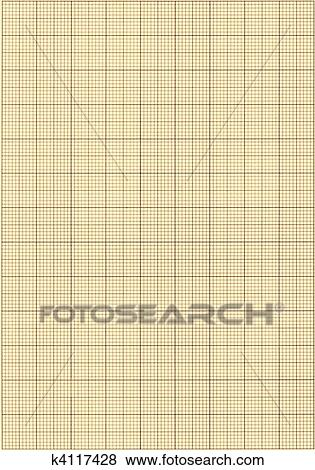 Pictures of Old sepia graph paper square grid background k4117428