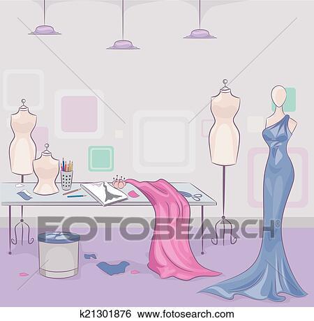 Clip Art of Fashion Design k21301876 - Search Clipart, Illustration