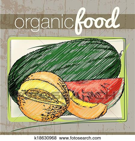 Clip Art of Organic Food illustration k18630968 - Search Clipart