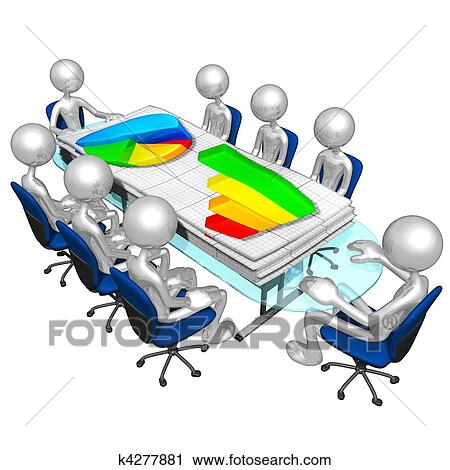 Clipart of Business Reports Meeting k4277881 - Search Clip Art