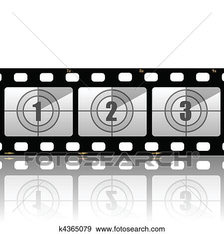 Clip Art of Film strips k4365079 - Search Clipart, Illustration