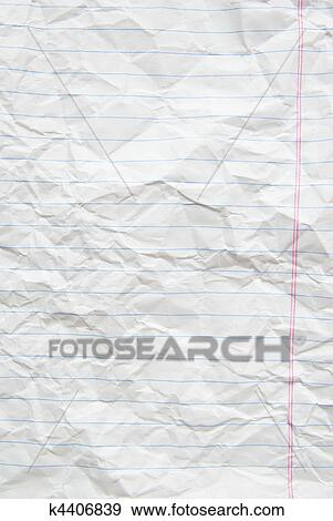 Stock Photograph of lined paper k4406839 - Search Stock Photography