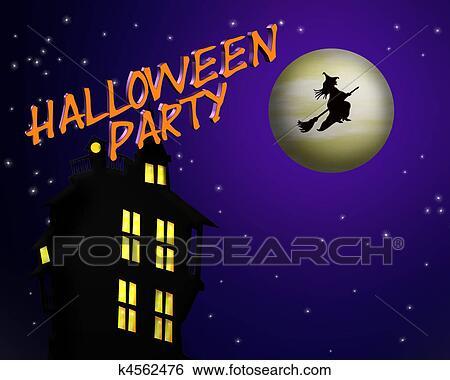 Halloween Party Invitation Stock Illustration k4562476