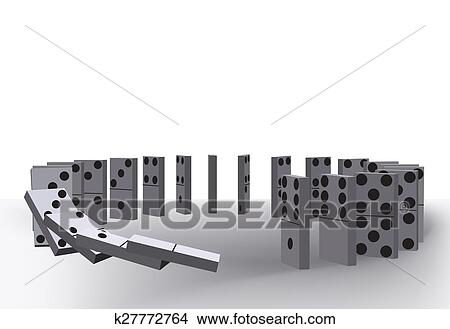 Drawings of Domino effect k27772764 - Search Clip Art Illustrations
