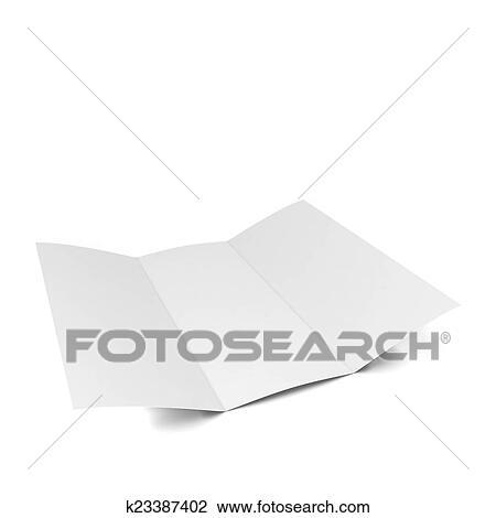 Clip Art of Blank brochure k23387402 - Search Clipart, Illustration