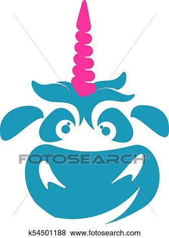 Clip Art of Unicorn illustration logo template k54501188 - Search