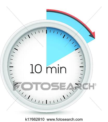 Clipart of Ten minutes timer k17662810 - Search Clip Art