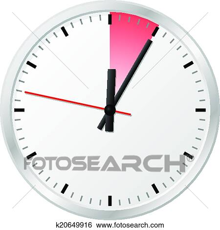 Clip Art of timer with 5 (five) minutes k20649916 - Search Clipart