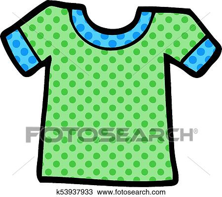 Cartoon tee shirt Clipart