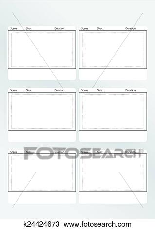 Clipart of storyboard template vertical x6 k24424673 - Search Clip - vertical storyboard