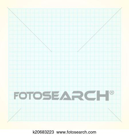 Clipart of Graph grid paper background k20683223 - Search Clip Art