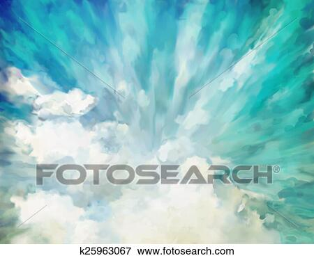 Picture of Blue abstract artistic background k25963067 - Search