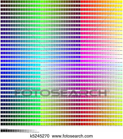 Stock Illustrations of Hex Color Code Chart k5245270 - Search