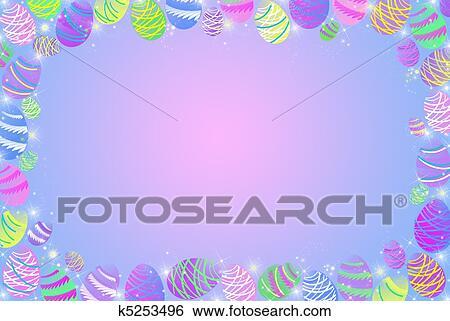 Stock Illustration of Easter Egg Border k5253496 - Search Clip Art