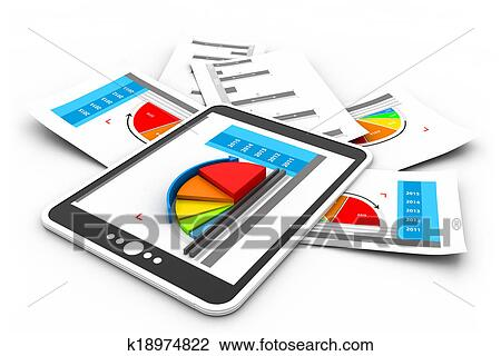 Clip Art of Business reports graph k18974822 - Search Clipart