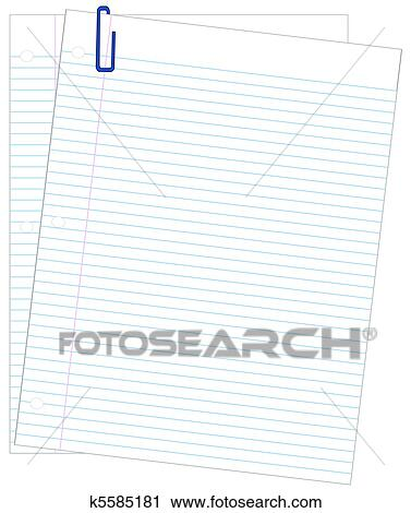 Clipart of two sheets of lined paper k5585181 - Search Clip Art - lined paper with picture