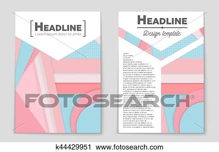 Clipart of Abstract vector layout background set For art template