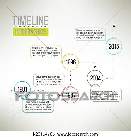 Clipart of Timeline template infographic suitable for business
