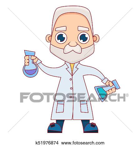 Old male scientist Clipart k51976874