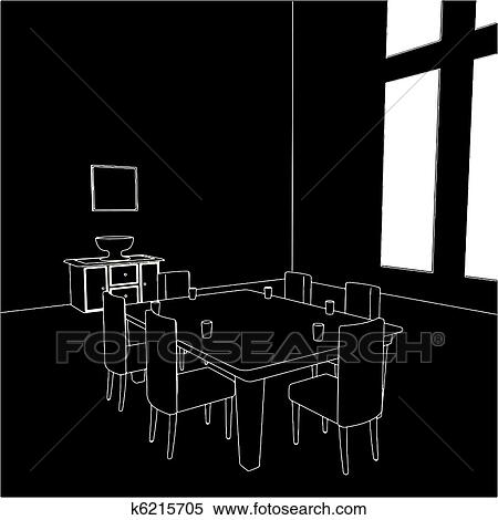 Clipart   Esszimmer K6215705   Suche Clip Art, Illustration