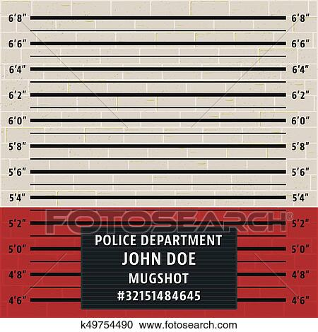 Clipart of Police mugshot template k49754490 - Search Clip Art