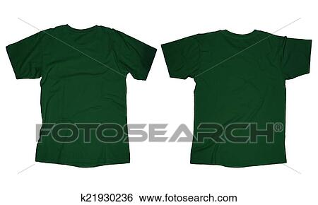 Stock Images of Dark Green T-Shirt Template k21930236 - Search Stock