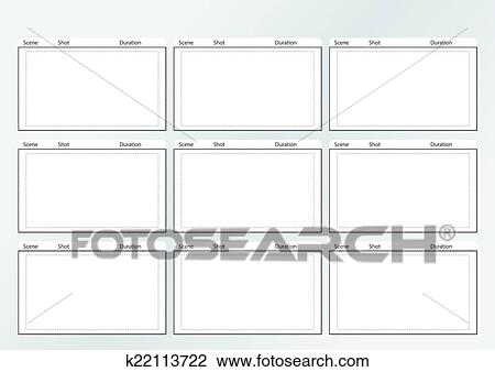 Clipart of storyboard template gird x 9 k22113722 - Search Clip Art