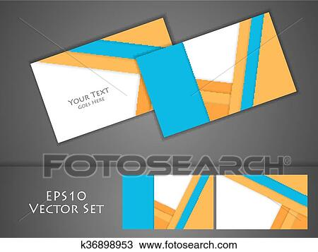 Clipart of vector business cards k36898953 - Search Clip Art