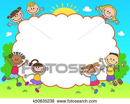 Kids Diploma certificate background design template Clip Art