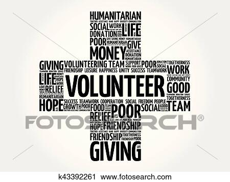 Clipart of Volunteer word cloud collage k43392261 - Search Clip Art