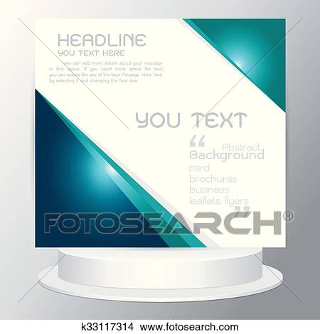 Clipart of background tri fold business brochure cards flyers
