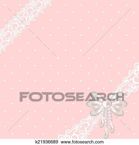 Pink polka dot background Clip Art k21936689