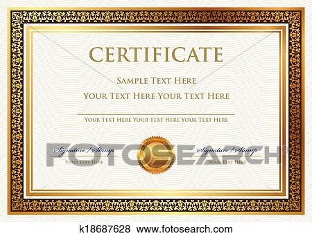 Clip Art of certificate of achievement k18687628 - Search Clipart