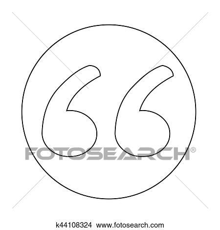 Clipart of Blockquote icon k44108324 - Search Clip Art, Illustration