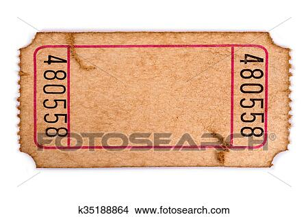 Stock Photo of Stained blank admission ticket k35188864 - Search