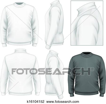 Clipart of Men\u0027s sweater design template k16104152 - Search Clip Art