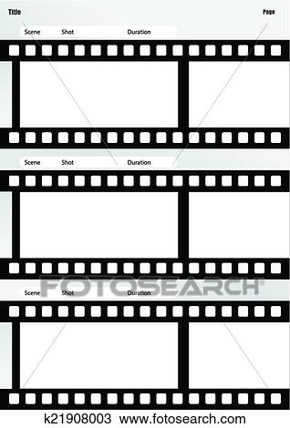Clipart - storyboard, película, modelo, vertical k21908003 - Busca - vertical storyboard